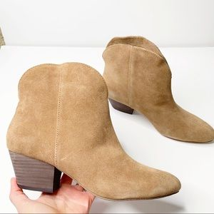 Splendid Paige Brown Leather Suede Ankle Boot Heel